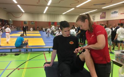 Lisa bij Het Flevoland Open International Judo Tournament